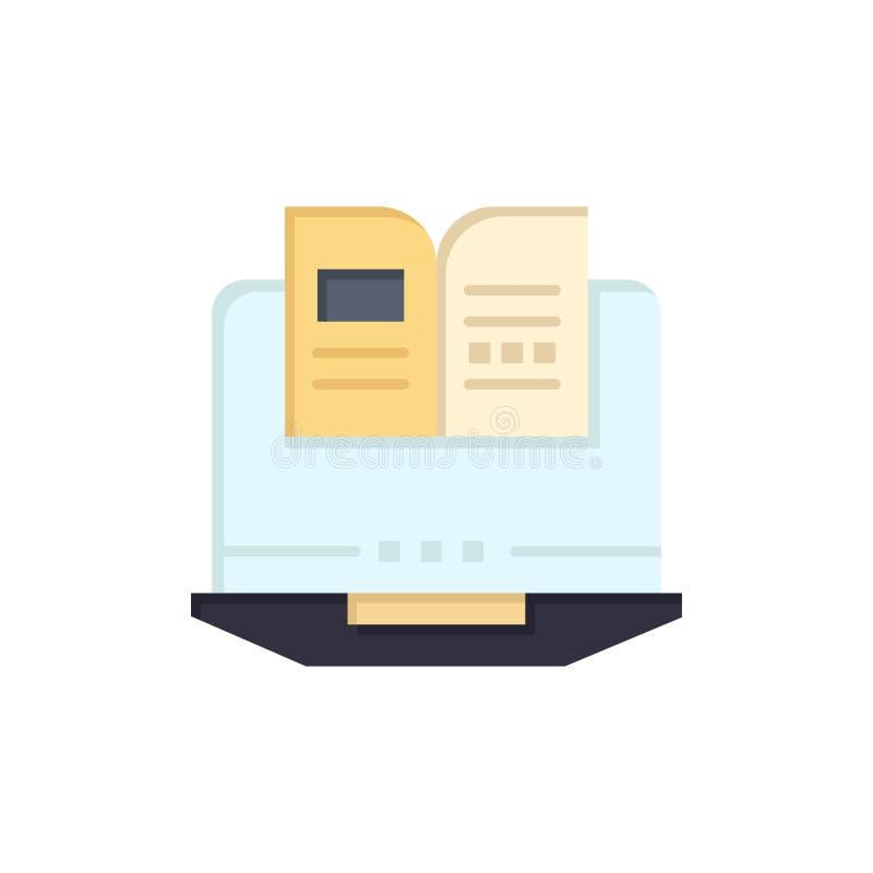 Ordenador portátil, ordenador, libro, icono plano del color del hardware Plantilla de la bandera del icono del vector libre illustration