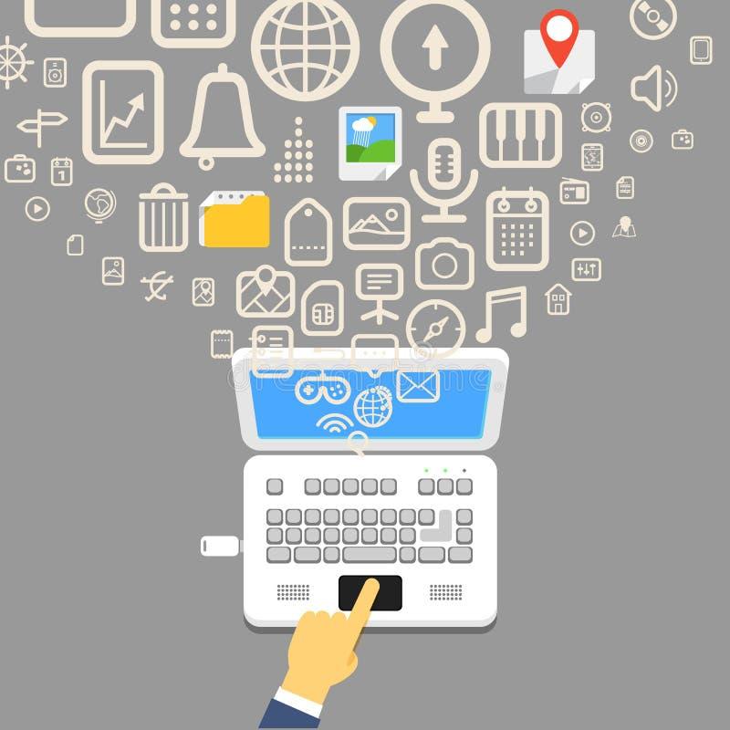 Ordenador portátil moderno libre illustration