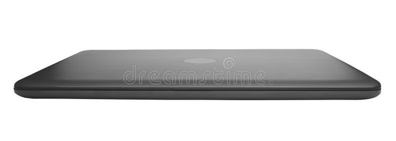 Ordenador portátil negro cerrado imagenes de archivo
