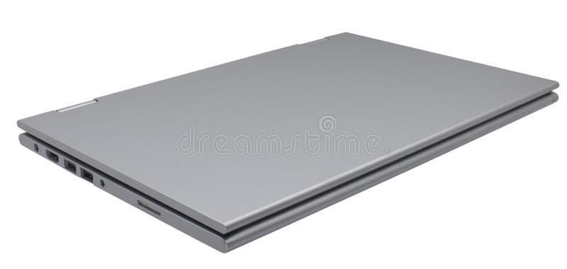 Ordenador portátil negro cerrado aislado fotos de archivo