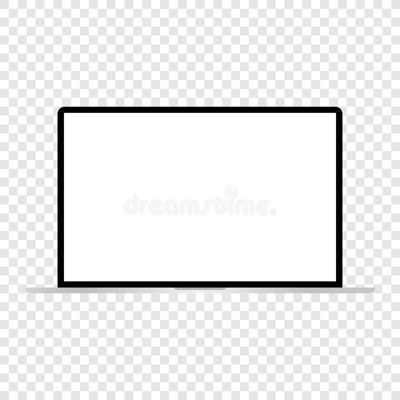 Ordenador port?til brillante moderno aislado en el vector blanco eps10 stock de ilustración
