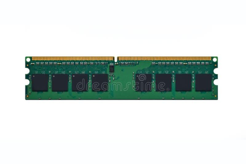 Ordenador RAM Random Access Memory del aislante en el fondo blanco foto de archivo libre de regalías