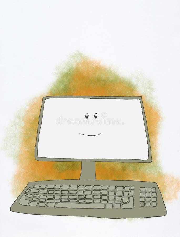Ordenador sonriente libre illustration