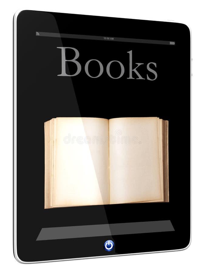 Ordenador y libro de la PC de la tablilla ilustración del vector