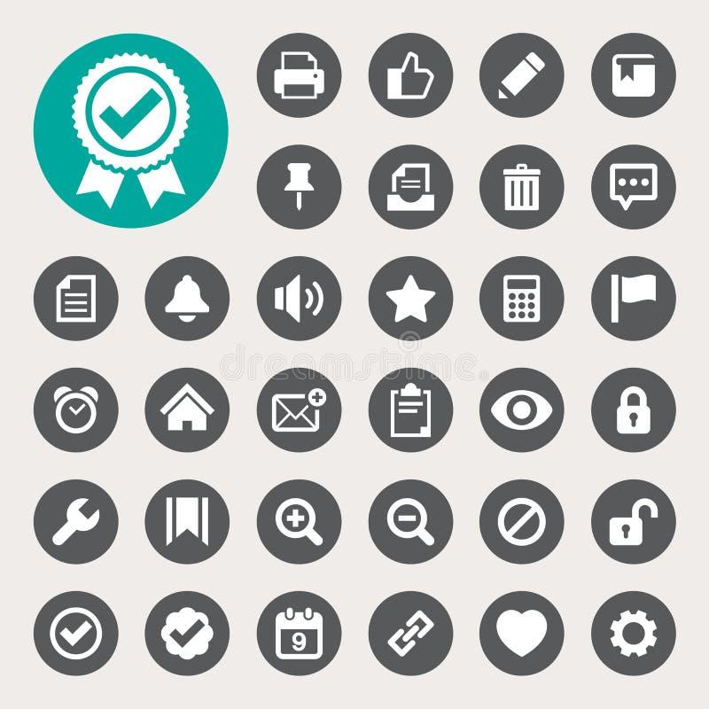Ordenador y sistema del icono del interfaz del uso stock de ilustración