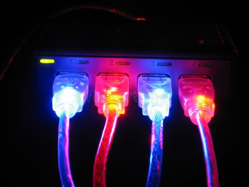 Download Ordenadores, Conexión, Cuerda Foto de archivo - Imagen de comuniqúese, macros: 1284344