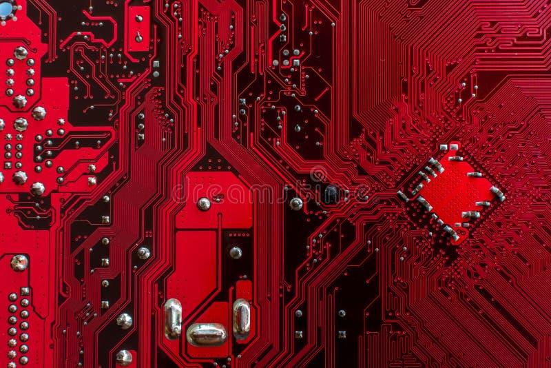 Ordenadores rojos del PWB fotografía de archivo