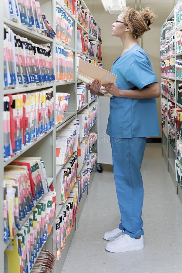 Ordenança do hospital nos arquivos imagem de stock