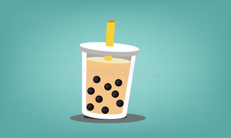 Ordenhe o copo de ch? ilustração stock