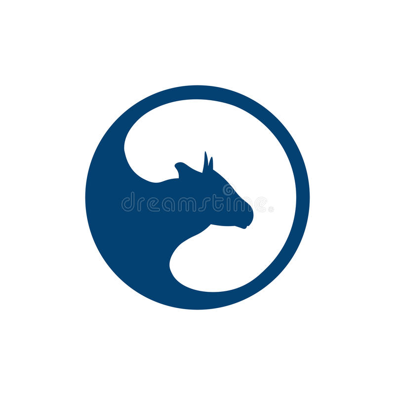 Ordenhe o emblema, as etiquetas, o logotipo e os elementos do projeto Leite fresco e natural Exploração agrícola do leite Leite d ilustração stock