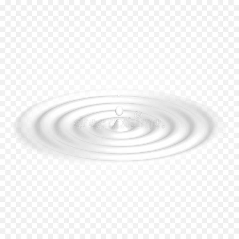 Ordenhe os produtos láteos brancos do líquido do vetor do fundo das ondas do iogurte de creme Superfície weavy líquida ilustração royalty free