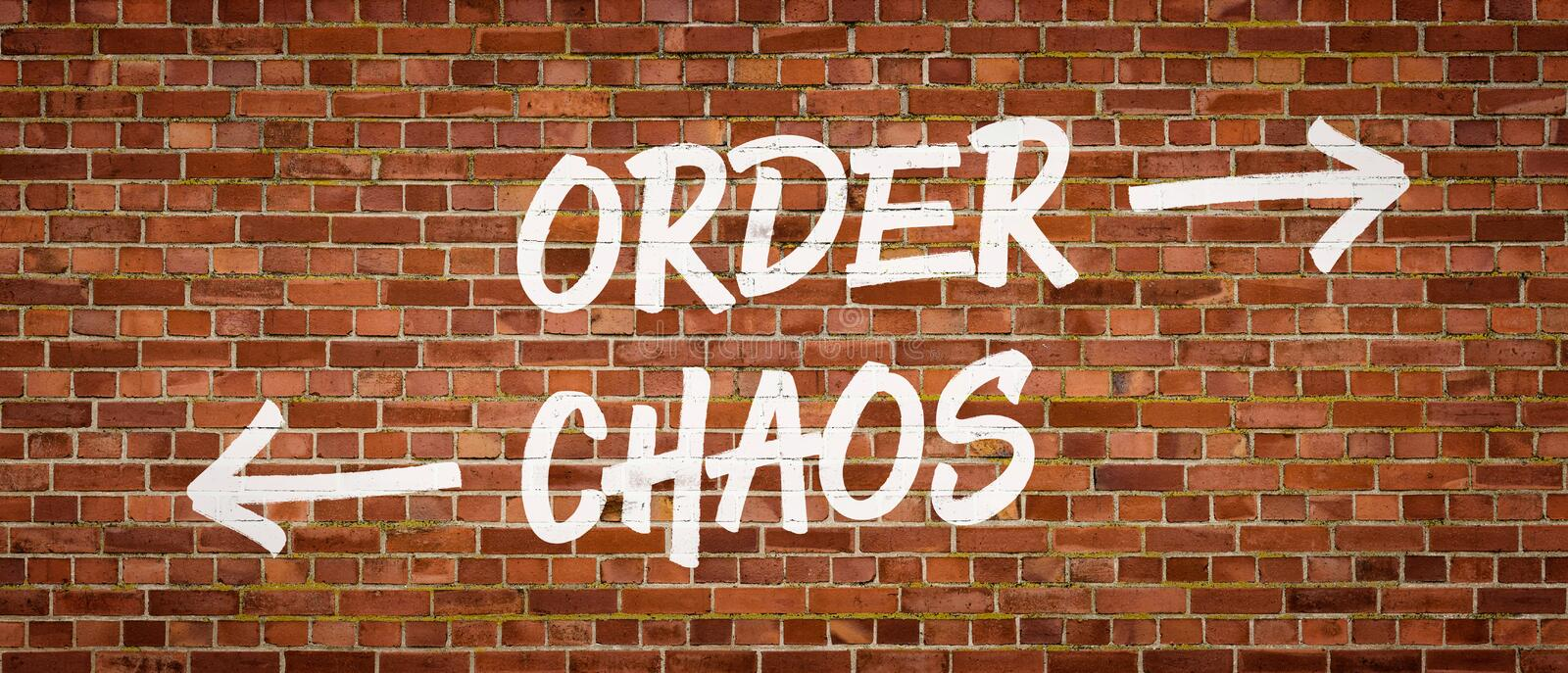 Order or Chaos royalty free stock photo