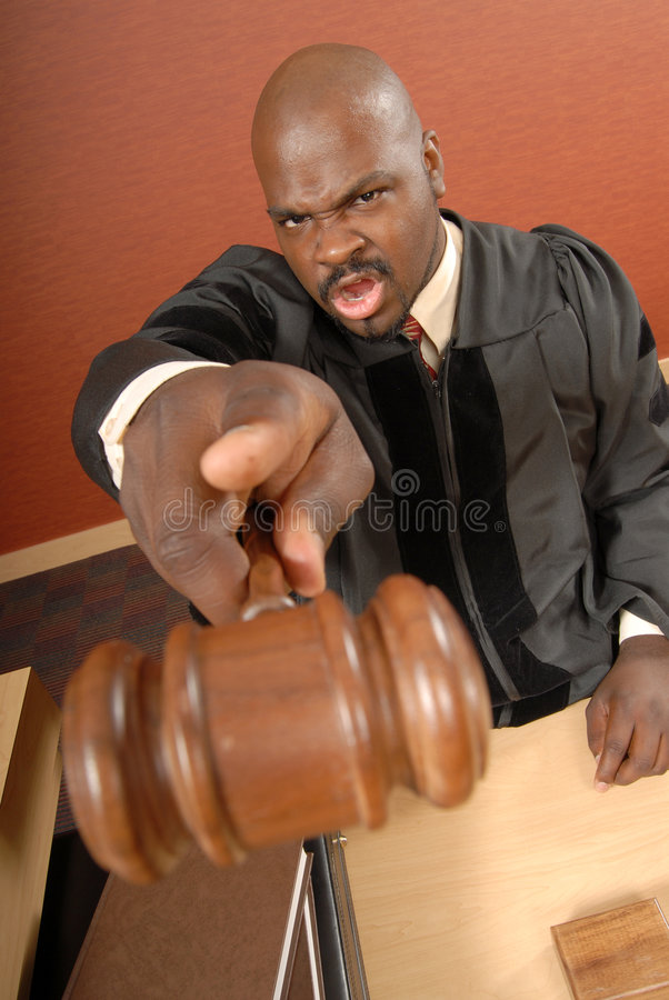 Order in the courtroom royalty free stock image