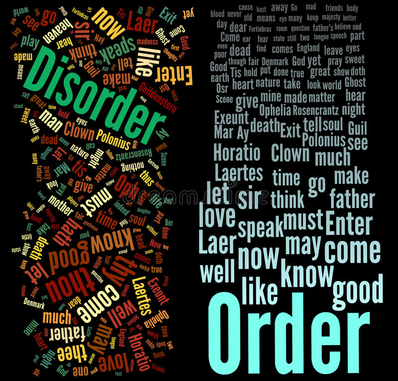 Order and Disorder royalty free illustration