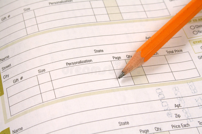 Download Order Form stock photo. Image of purchase, pencil, order - 3834676