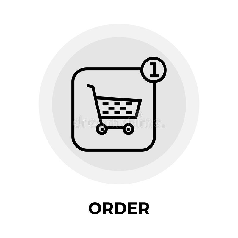 Order Line Icon. Order icon vector. Flat icon isolated on the white background. Editable EPS file. Vector illustration vector illustration
