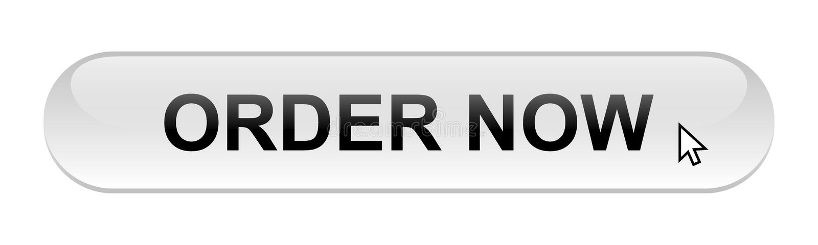 Order now. Web button on computer generated web button icon on pure white background vector illustration