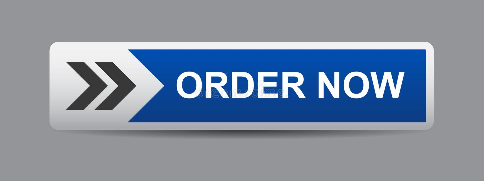 Order now button royalty free illustration