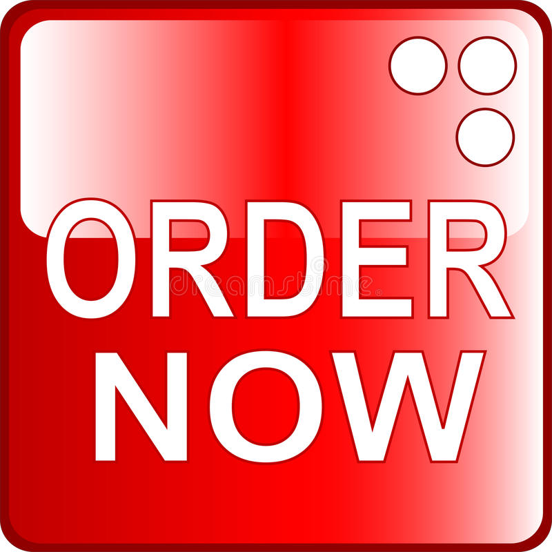 ORDER NOW red Web Button royalty free illustration