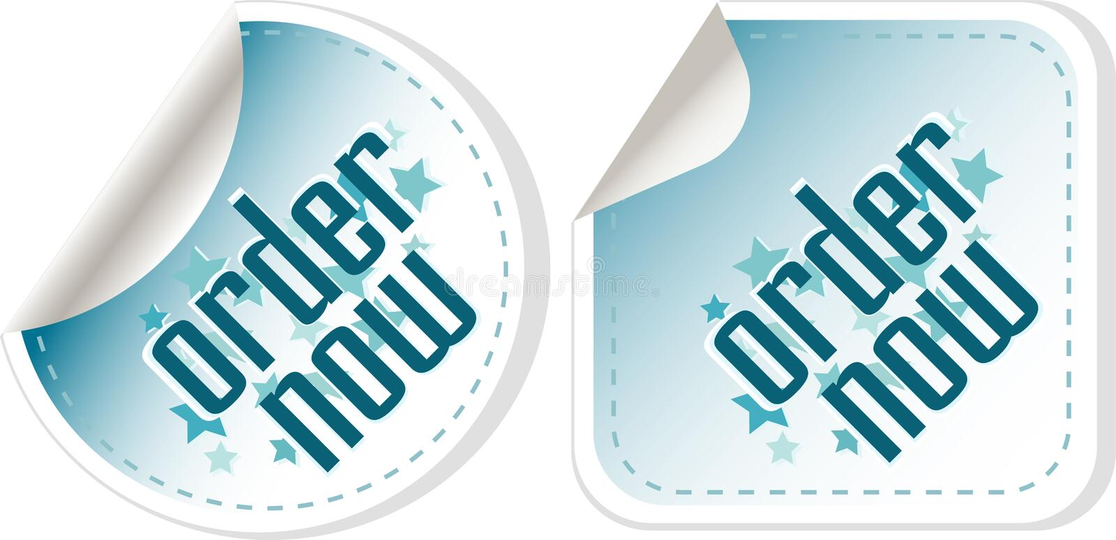 Download Order Now Stickers Label Set Stock Photos - Image: 24353743