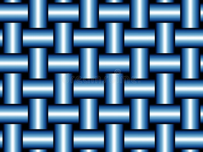 Download Orderly blue weave stock illustration. Illustration of bright - 14241883