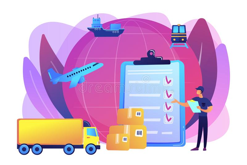 Customs clearance concept vector illustration stock illustration