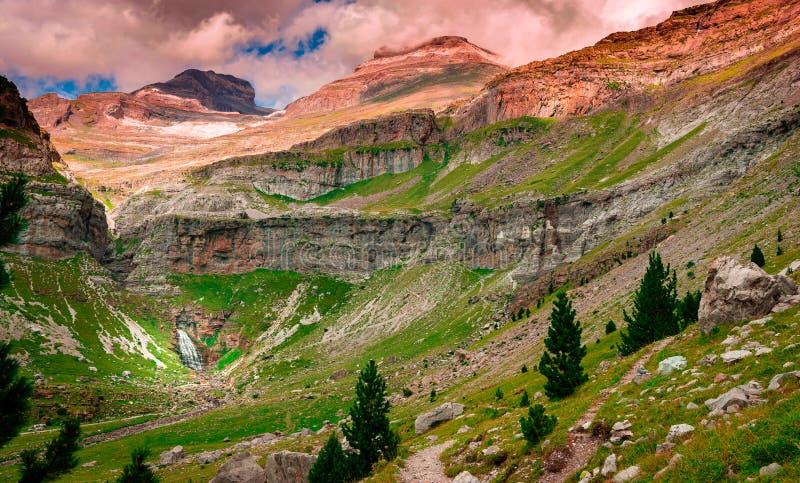Ordesa国家公园和Monte Perdido 免版税库存照片