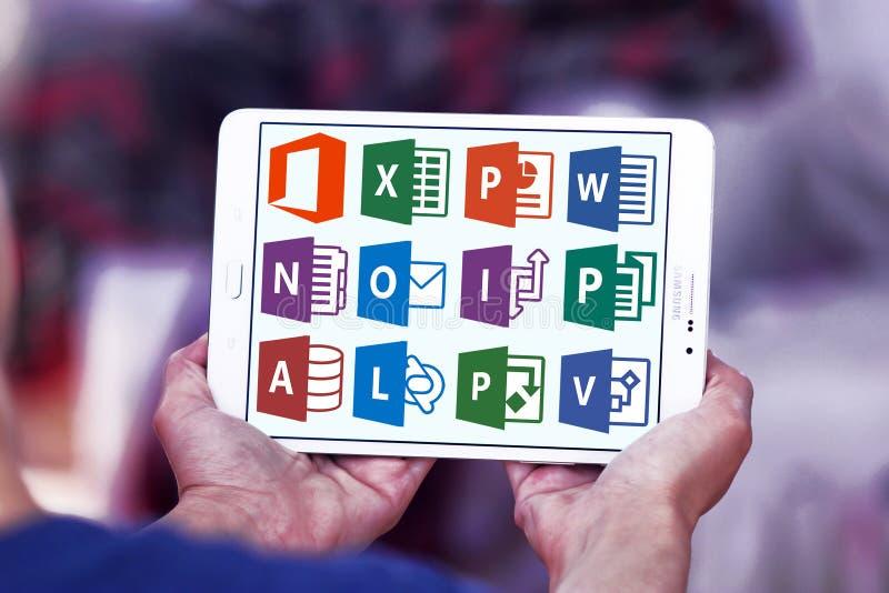 Ordet för det Microsoft kontoret, överträffar, powerpoint royaltyfri foto