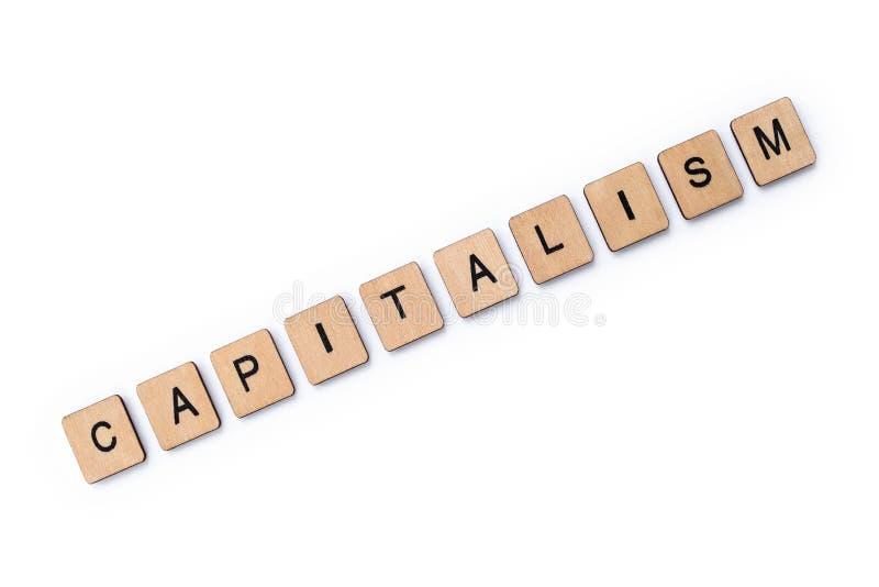 Ordet KAPITALISM royaltyfria bilder