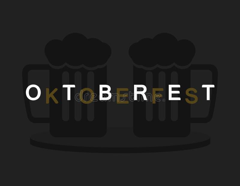 Ordet Oktoberfest vektor illustrationer