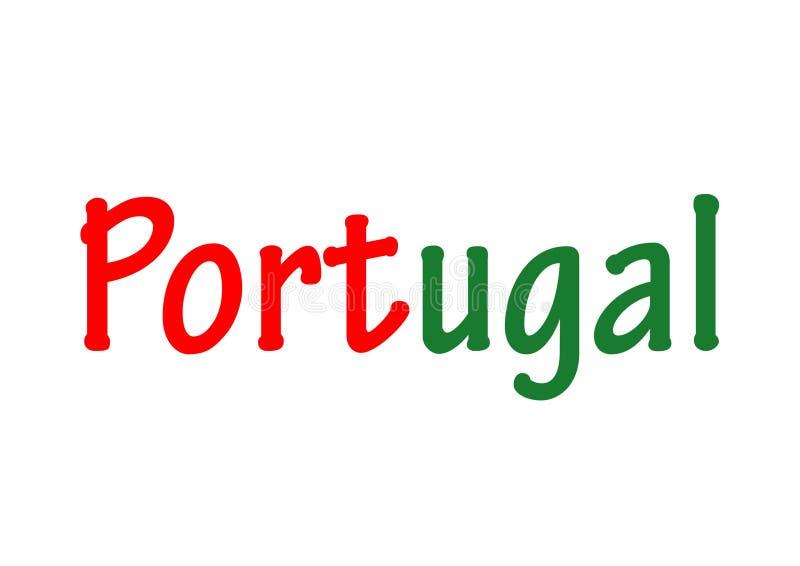 Ordet Portugal royaltyfri foto