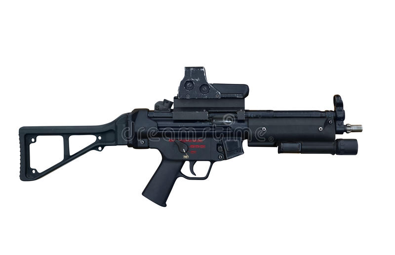 Ordeverstoorder en Koch-machinegeweer mp5 E6 stock foto