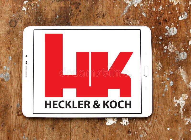Ordeverstoorder & Koch-defensie van het productiebedrijf embleem royalty-vrije stock foto