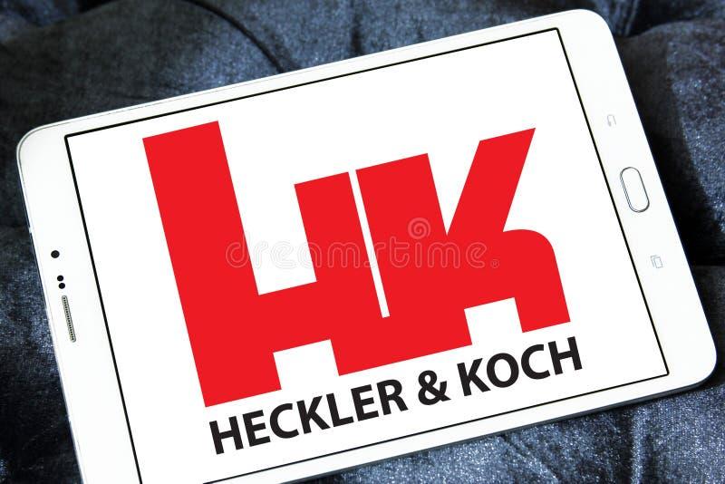 Ordeverstoorder & Koch-defensie van het productiebedrijf embleem stock afbeelding
