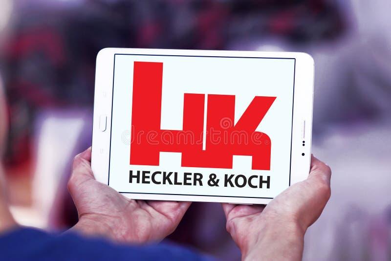Ordeverstoorder & Koch-defensie van het productiebedrijf embleem stock fotografie