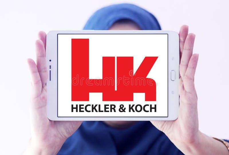 Ordeverstoorder & Koch-defensie van het productiebedrijf embleem royalty-vrije stock fotografie