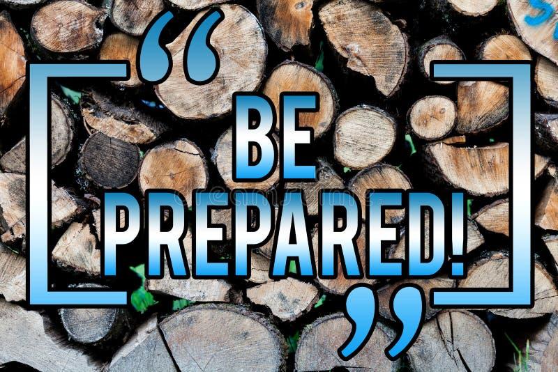Ordhandstiltext är förberedd Affärsidéen för stag ordnar till villigt att ta ett tillfälle som förbereder sig träbakgrund fotografering för bildbyråer