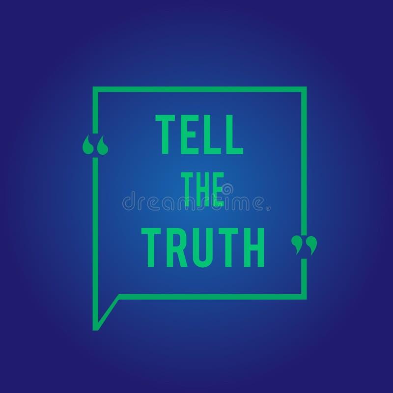 Ordhandstiltext berättar sanningen Affärsidé för Confess något personligt faktum som någon önskar dolde uppehällen stock illustrationer
