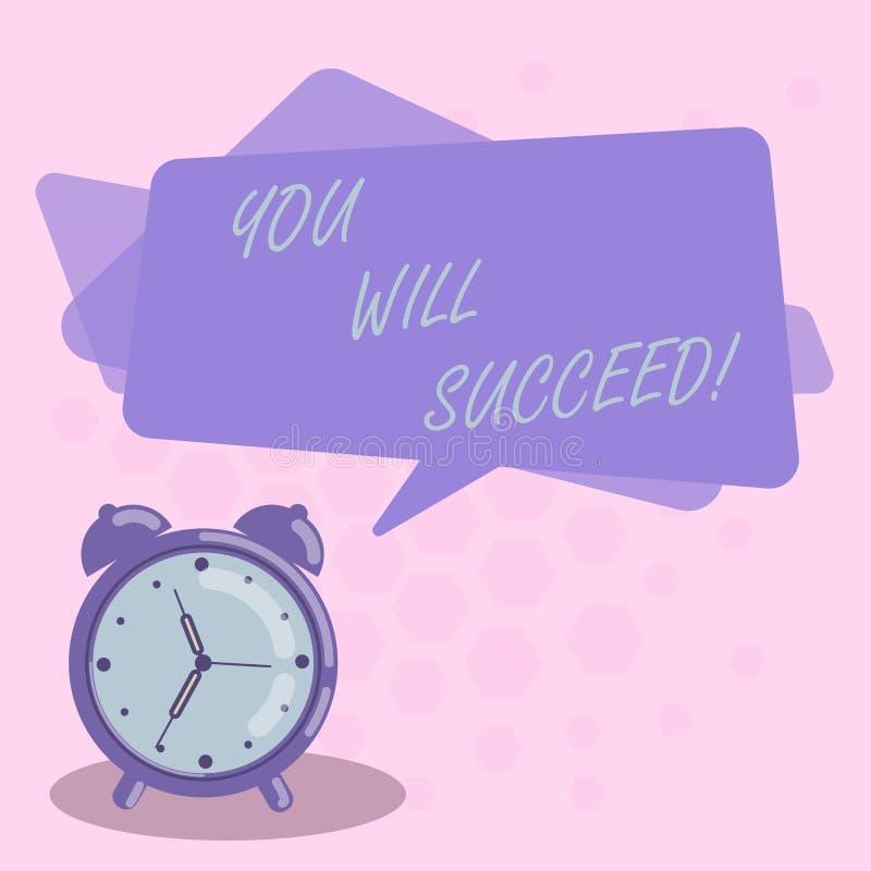 Ordhandstiltext som du ska lyckas Affärsidé för att inspirationmotivationen ska hålla arbeta för att vara positivt mellanrum vektor illustrationer