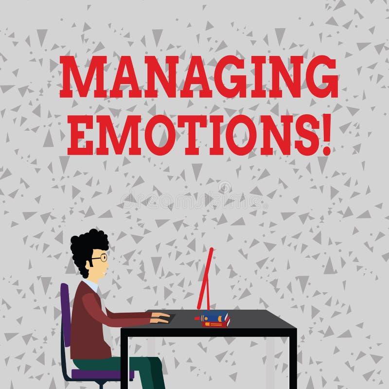 Ordhandstiltext som klarar av sinnesrörelser Affärsidéen för kapacitet är öppen till känslor och modulerar dem i honom royaltyfri illustrationer