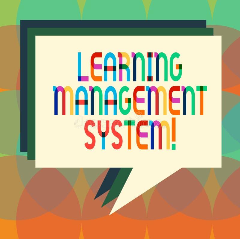 Ordhandstiltext som lär ledningsystemet Affärsidéen för programvaruapplikationen, som är van vid, administrerar bunten royaltyfri illustrationer