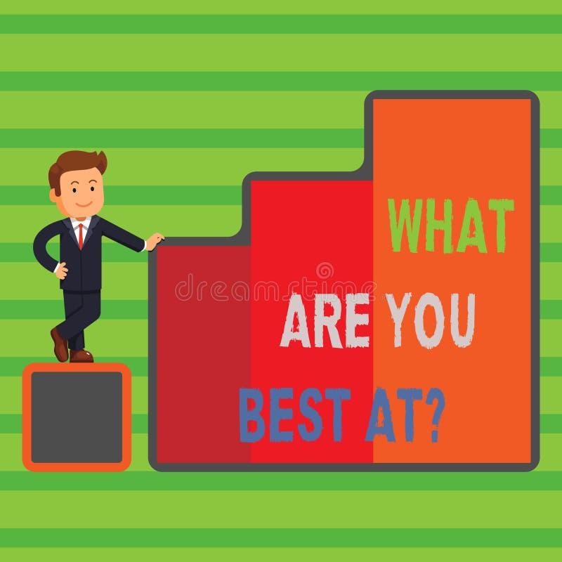Ordhandstiltext vad är dig bästa Atquestion Affärsidéen för individuell kreativitet är en unik kapacitet vektor illustrationer