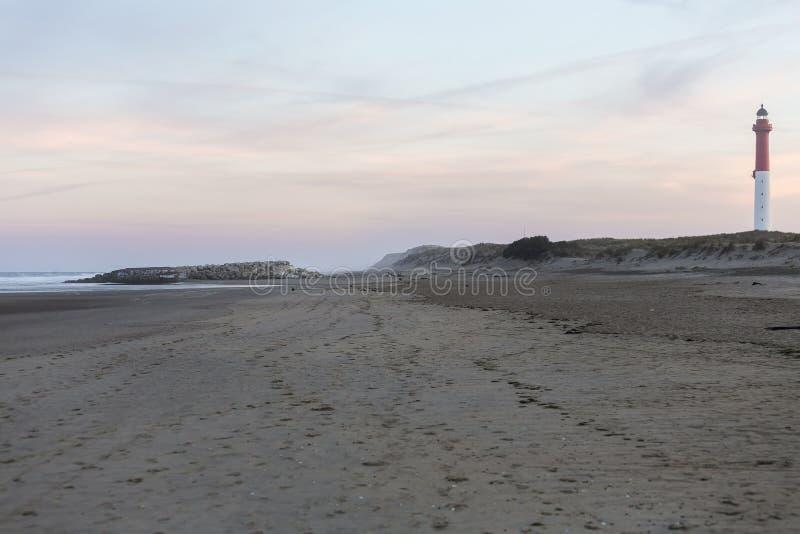 The ordinary beacon. On the ocean coast stock image