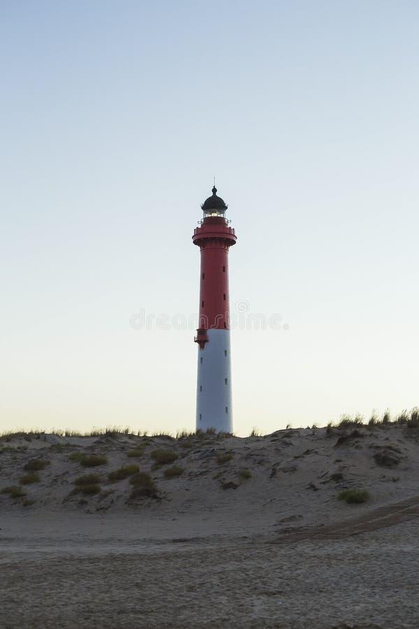 The ordinary beacon. On the ocean coast stock photo