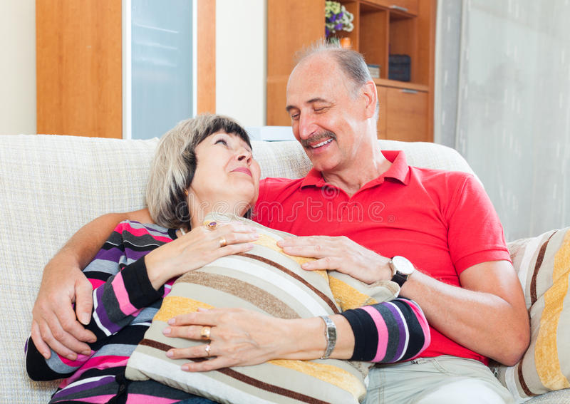 Ordinary mature couple together royalty free stock image