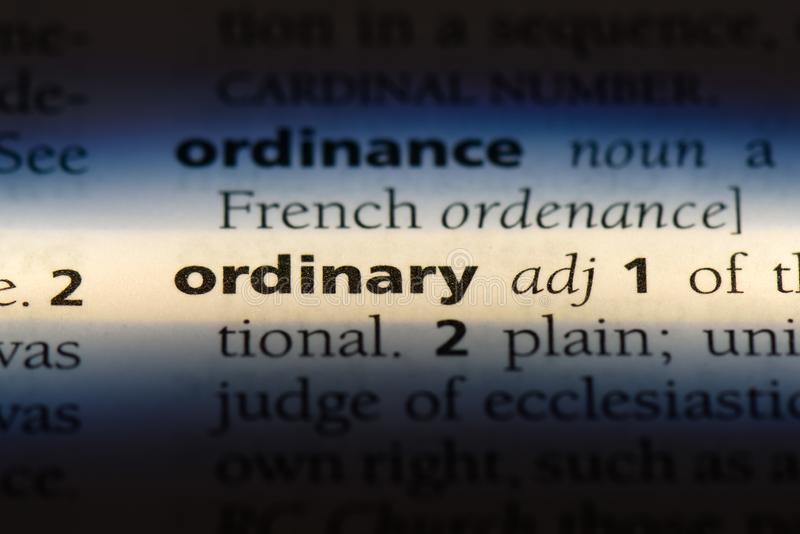 Ordinary. Word in a dictionary.  concept royalty free stock photos