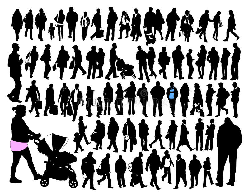 Download Ordinary people stock vector. Image of tall, group, slow - 9803391