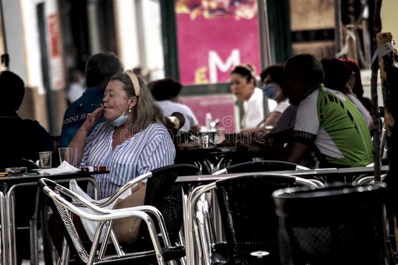 Ordinary people in a bar. Urban photography royalty free stock images