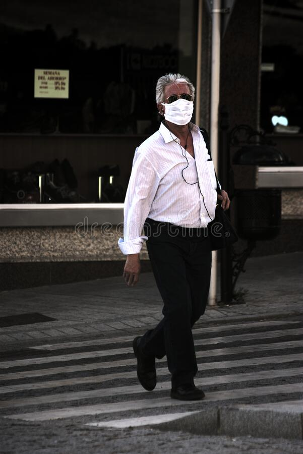 Man walking in the street. Urban photography royalty free stock photography