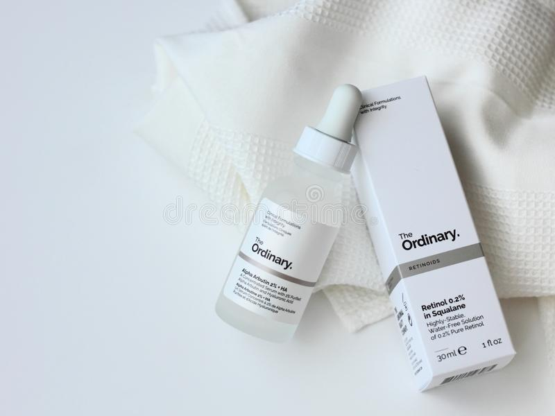 The Ordinary products stock photos